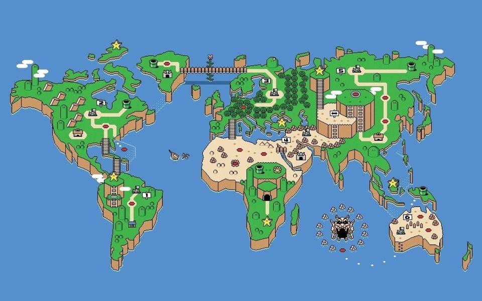 8 Bit World Map