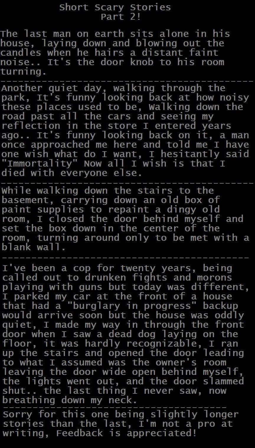Morbid] Short Stories 2