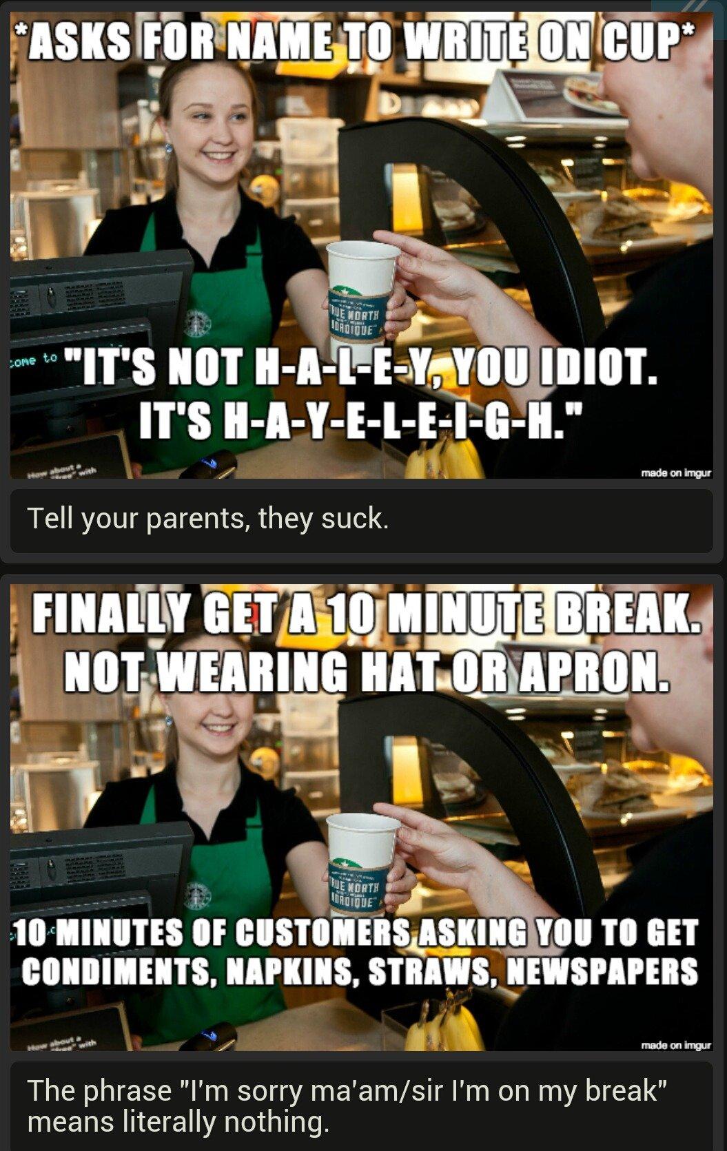 Fenns Job Comps Starbucks Barista