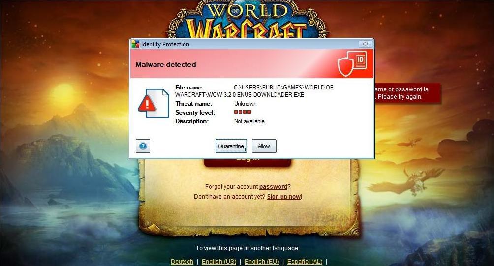 World Of Warcraft Fail