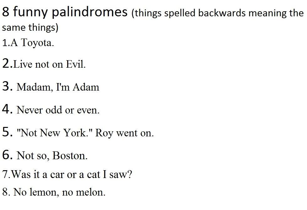 Funny Palindromes