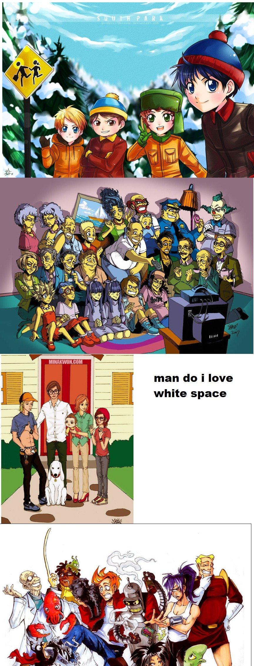 Cartoons into anime