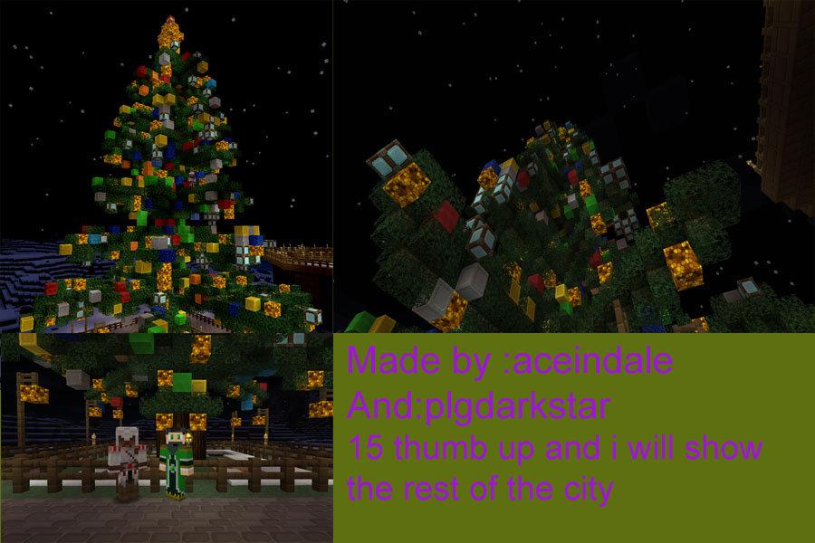 Minecraft Christmas Tree.Minecraft Christmas Tree