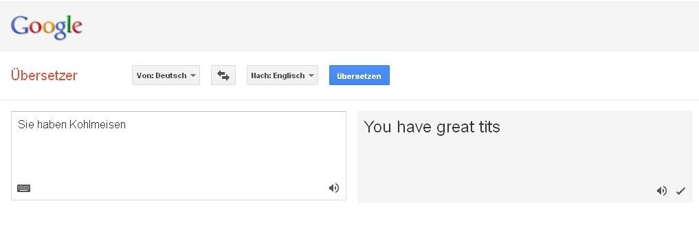 Google translator fail for Deutsch englisch translator