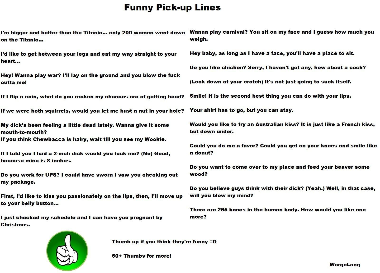 Pick up lines unique