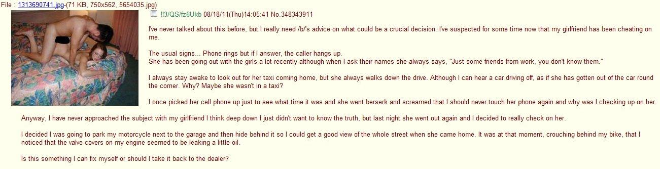 advice on cheating girlfriend