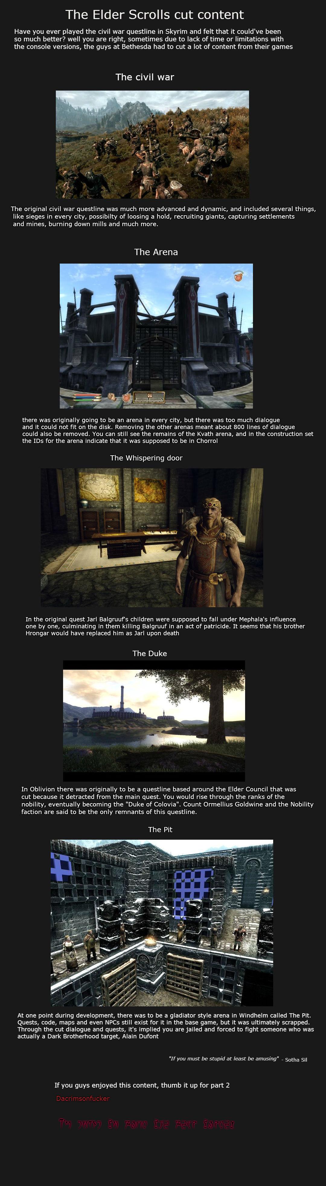 Elder Scrolls cut content