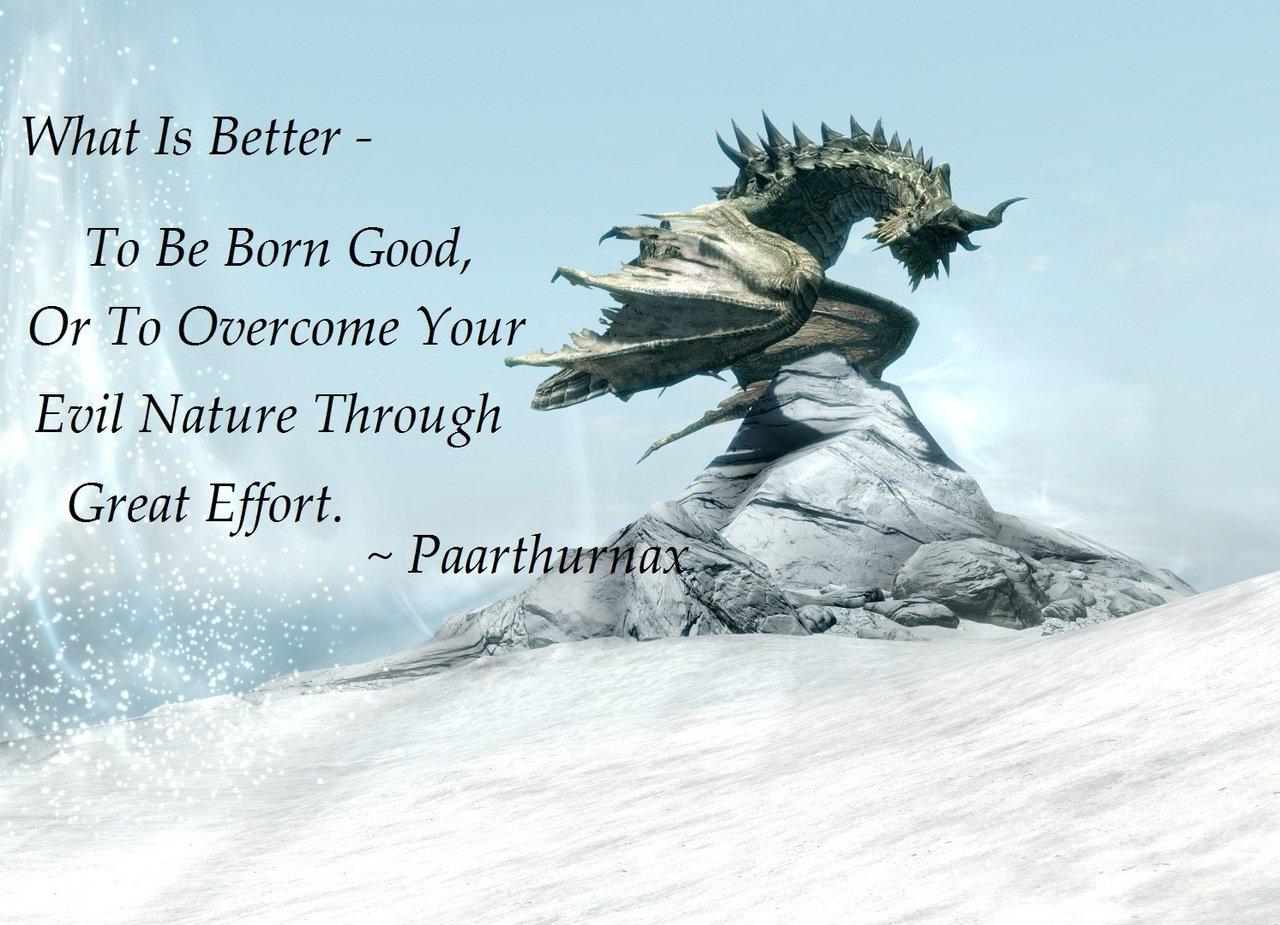 Inspirational Skyrim Quote
