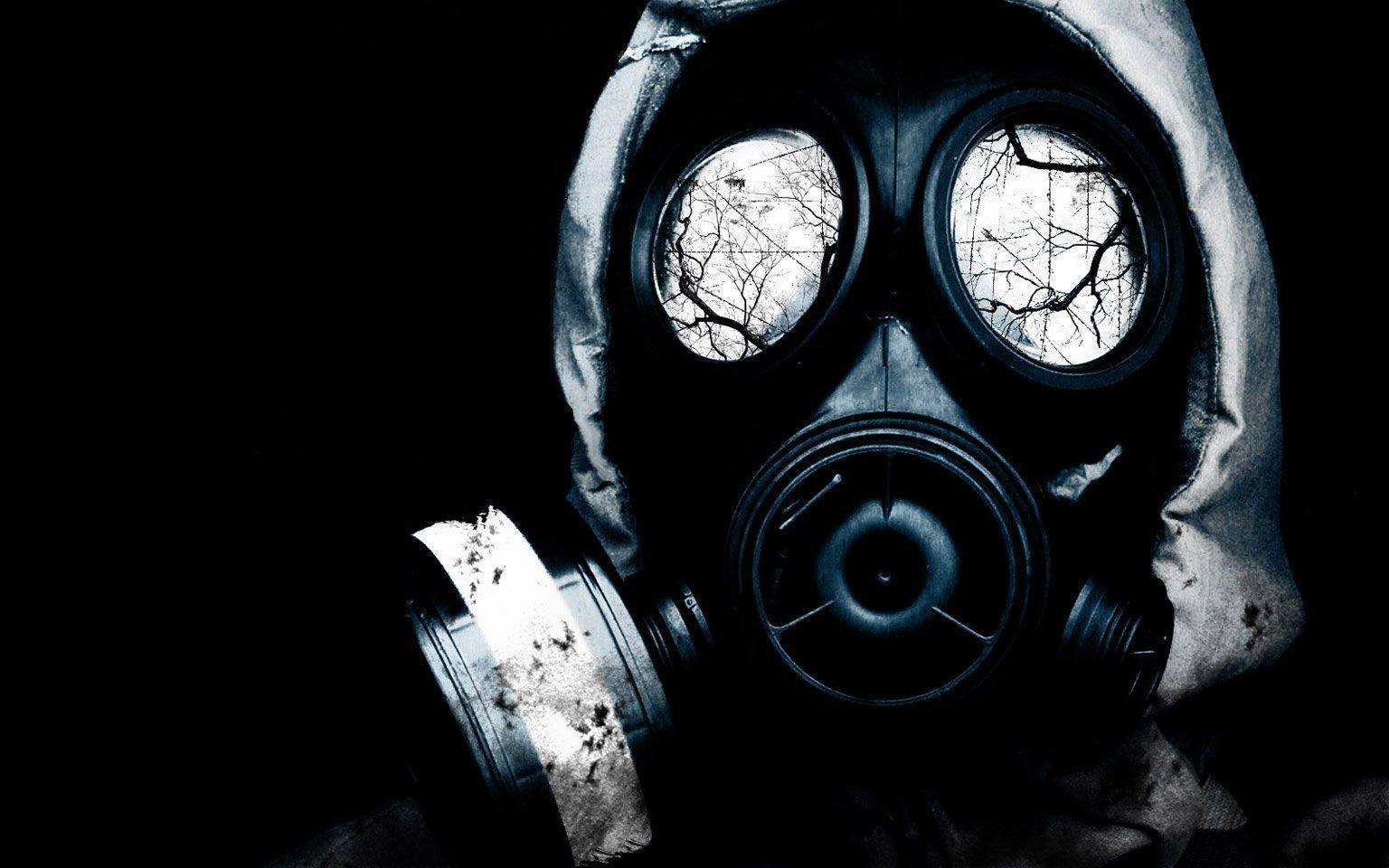 gas mask background