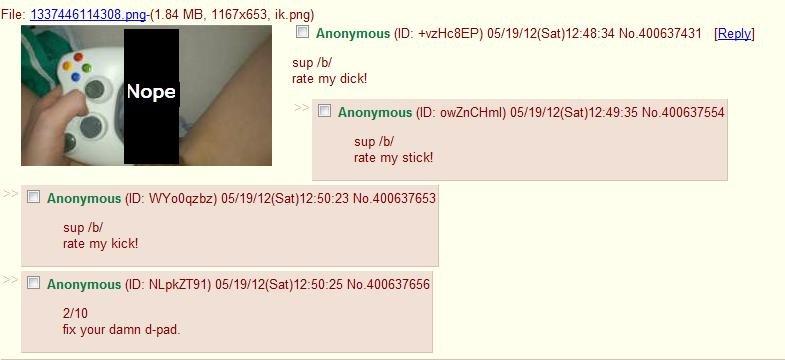 Dick pic rate