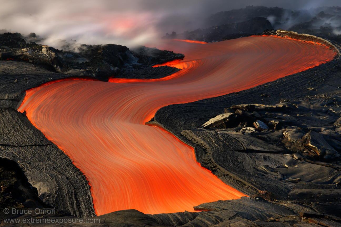 Lava River in Hawaii