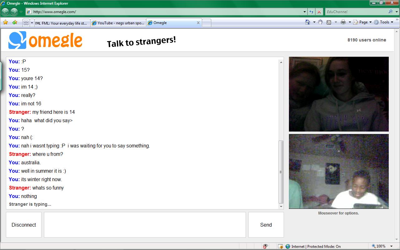Www omegle com webcam