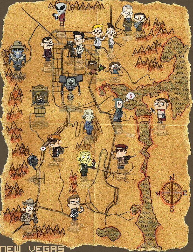 New Vegas map