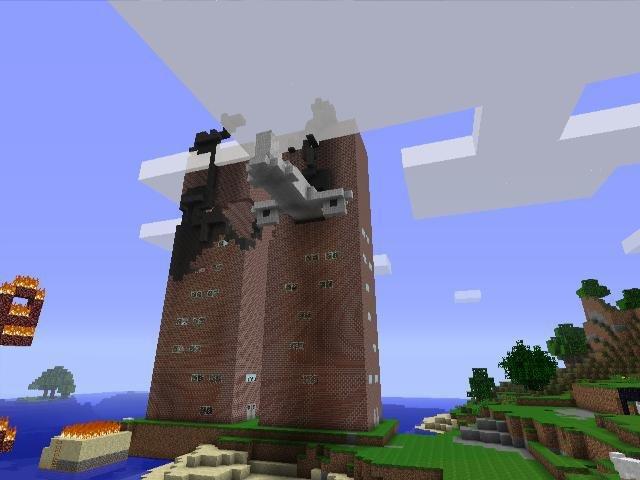 9 11 Recreated In Minecraft