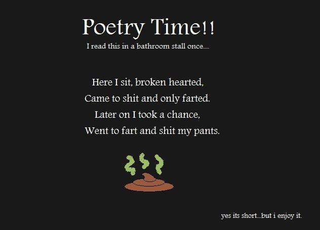 "Bathroom Stall Poems a ""poem"""