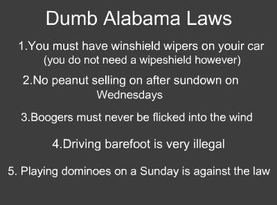 Alabama stupid laws