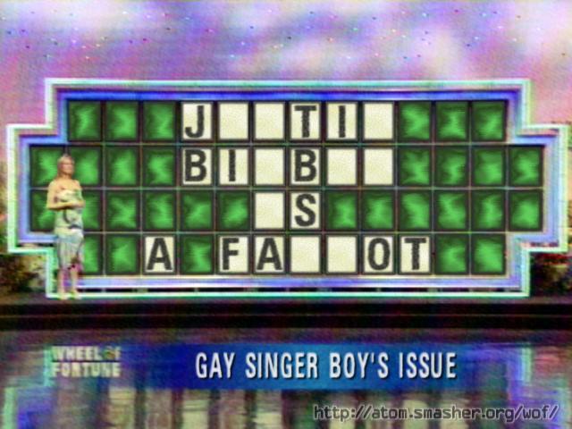 anti justin bieber word puzzle