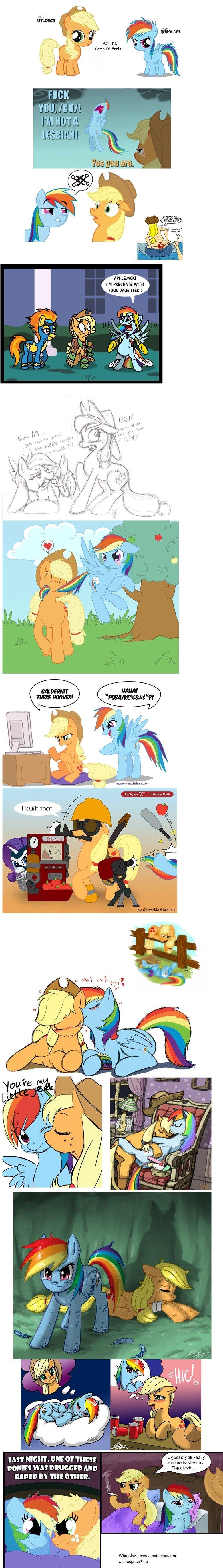 Applejack And Rainbowdash