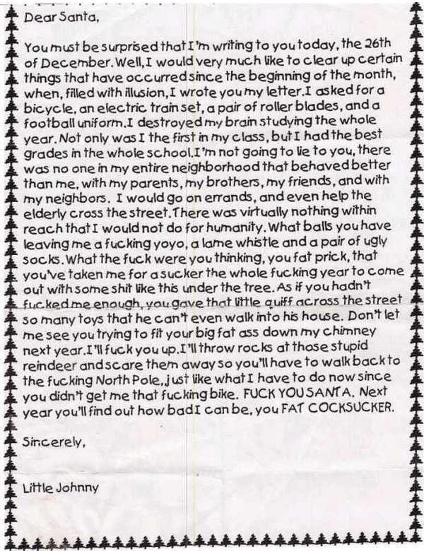 best letter ever written to santa