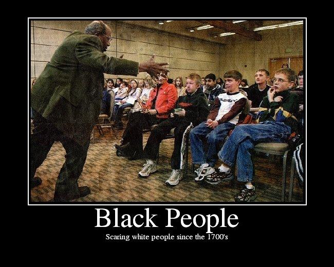 黒人が私を怖がらせる
