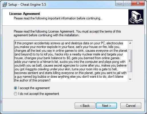Cheat Engine Agreements