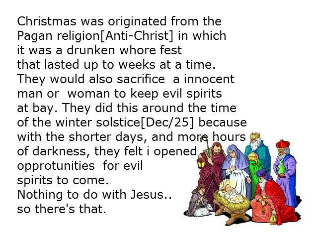 Christmas Origin.Christmas Origin