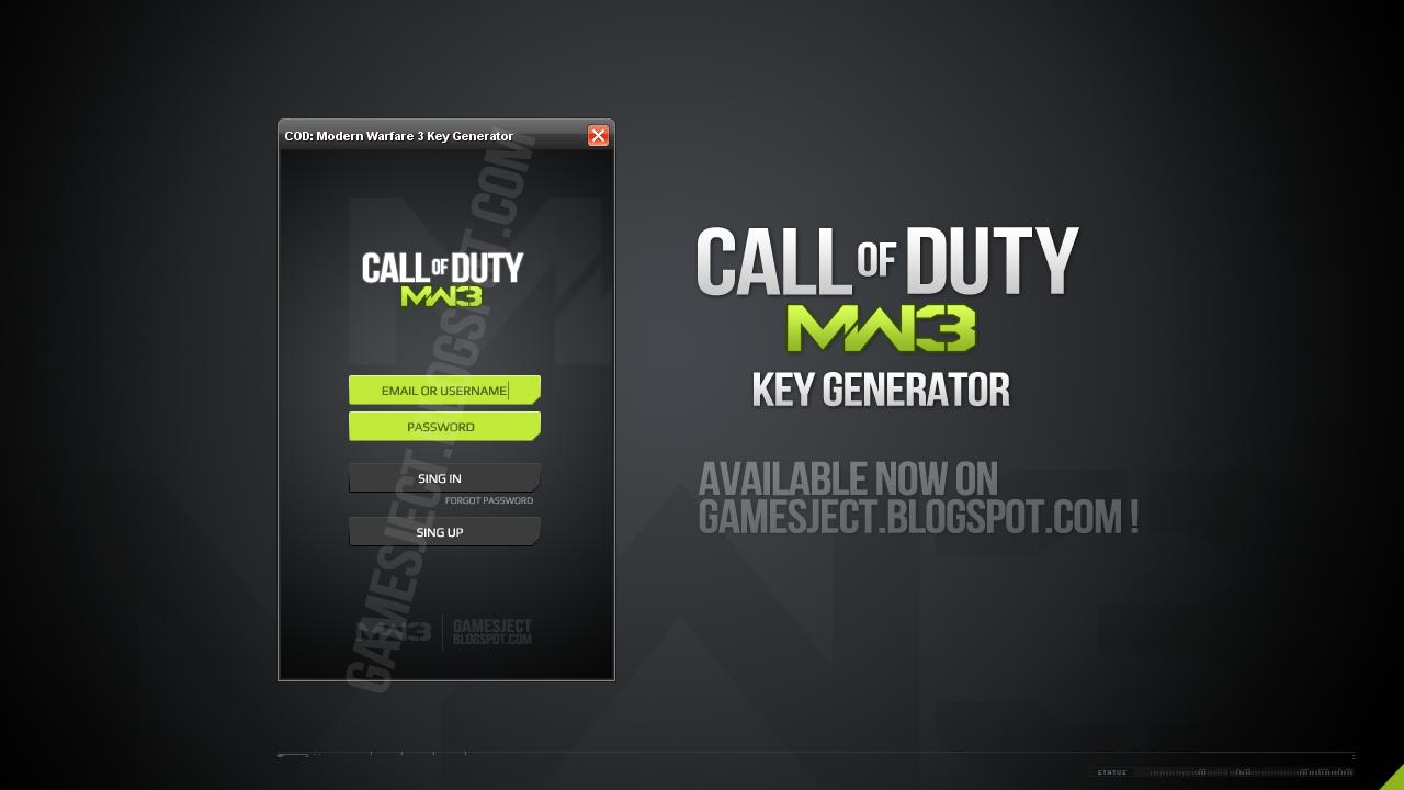 Cod Modern Warfare 3 Key Generator