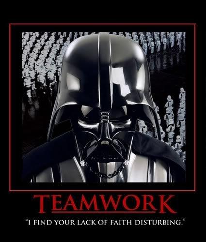 Darth Vader Motivational Teamwork
