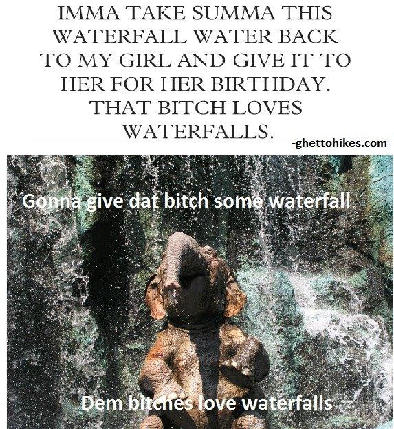 Dem Bitches Love Waterfalls