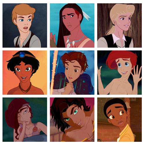 disney princesses as princes