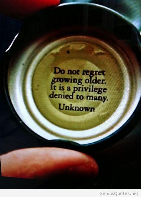 Do Not Regret Growing Older Quote
