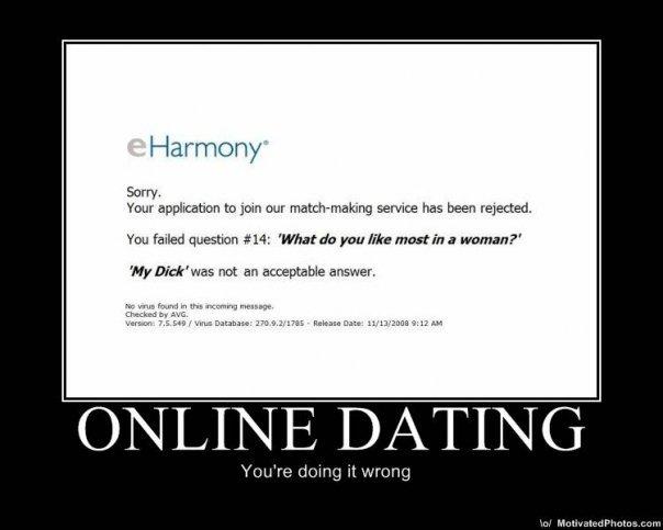 Online dating message fails