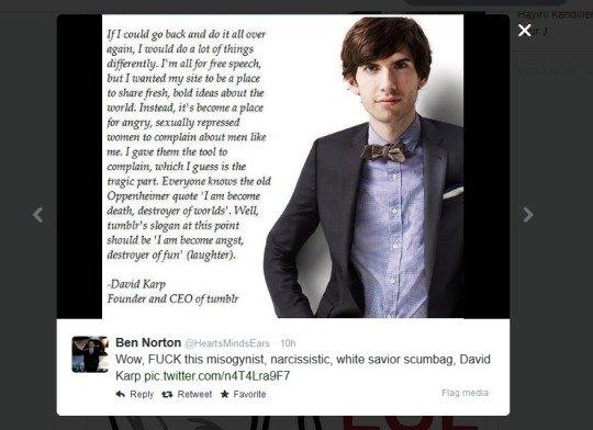 Even the creator of tumblr hates tumblr