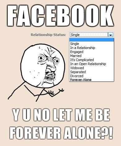 Facebook forever alone