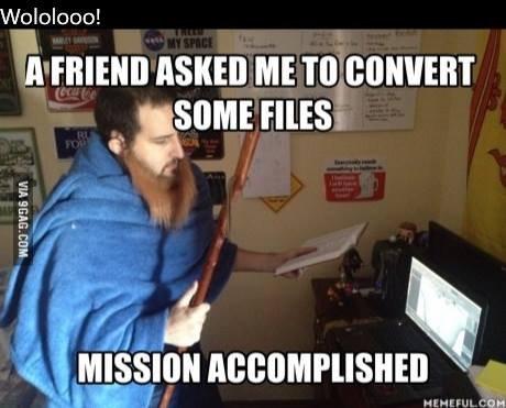 Funny Meme Upload : File conversion