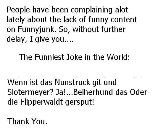 funniest joke in the world