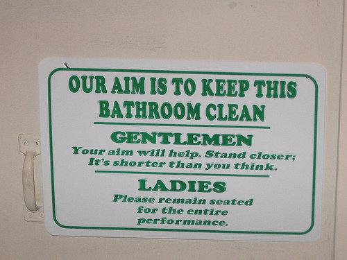 Bathroom Sign Yes No funny bathroom sign