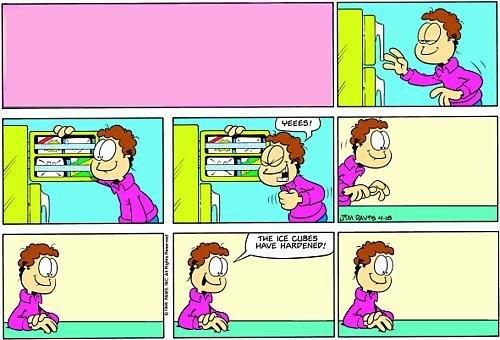 Garfield Minus Garfield Ice Cubes