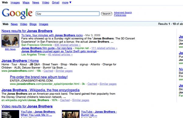 Gay jonas brothers google 4