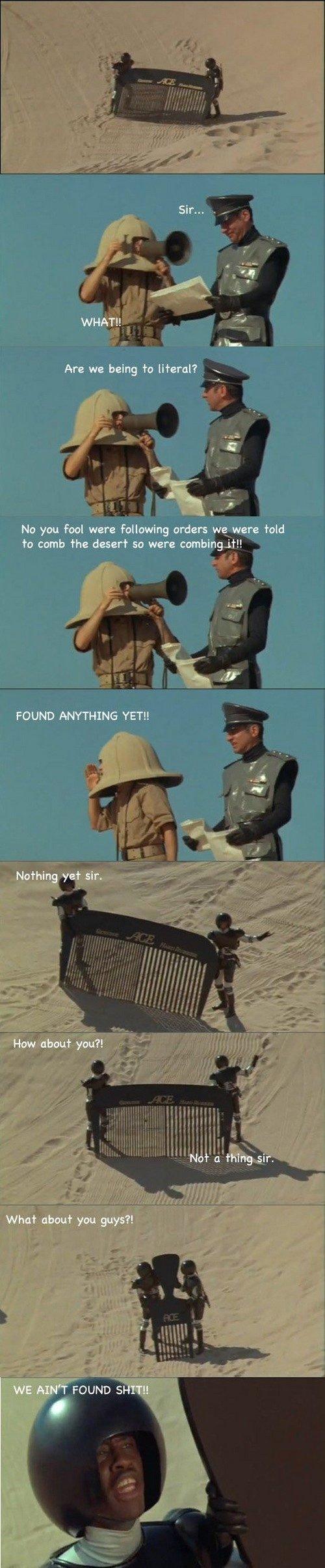 Go Comb The Desert