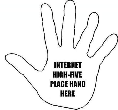 internet hi five