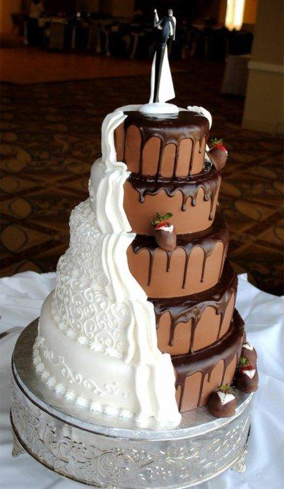 Inter Racial Wedding Cake