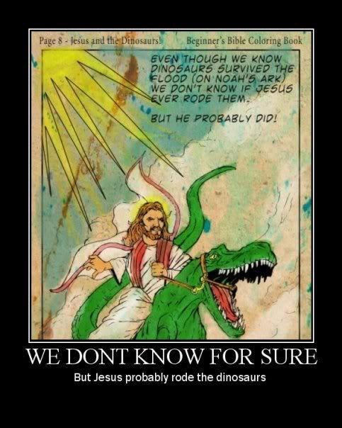 Jesus Rides Dinosaur