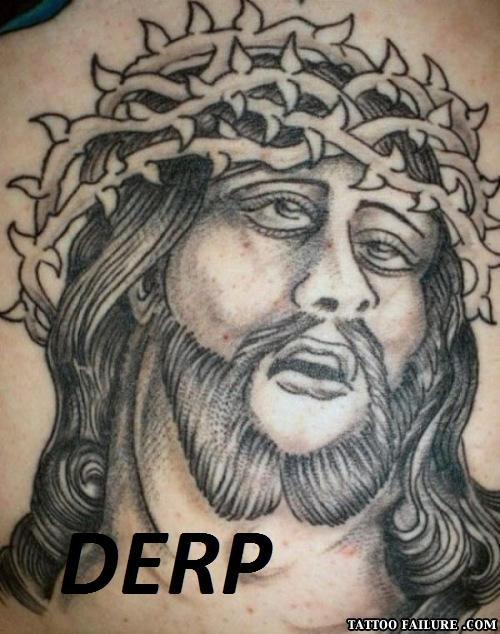Jesus Tattoo Fail