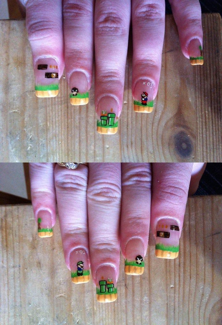 mario nail art
