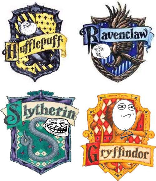 Meme Harry Potter Houses