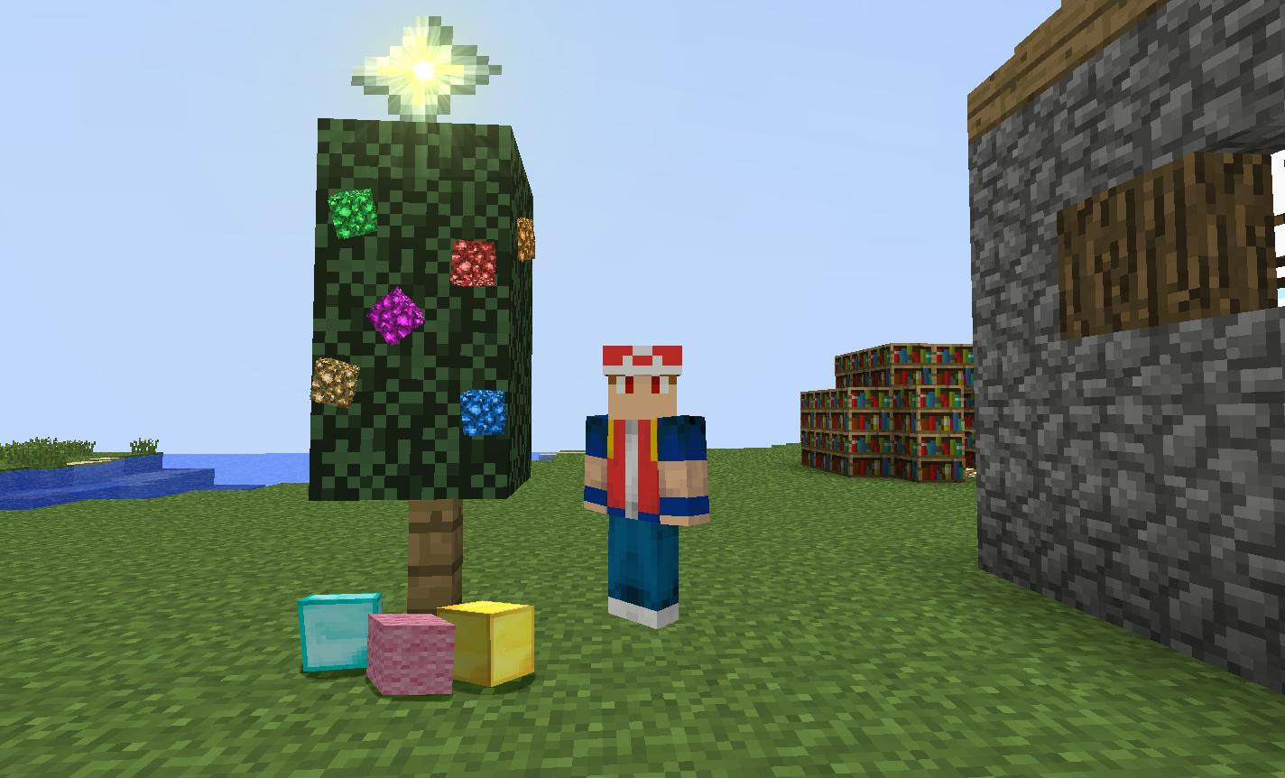 Minecraft Christmas.Merry Minecraft Christmas