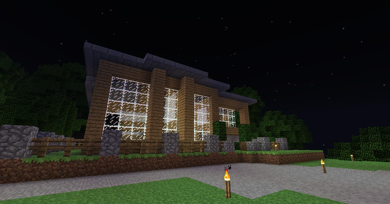 Modern House in Survival Server