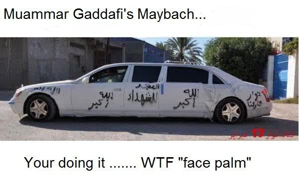 Muammar Gaddafi Maybach