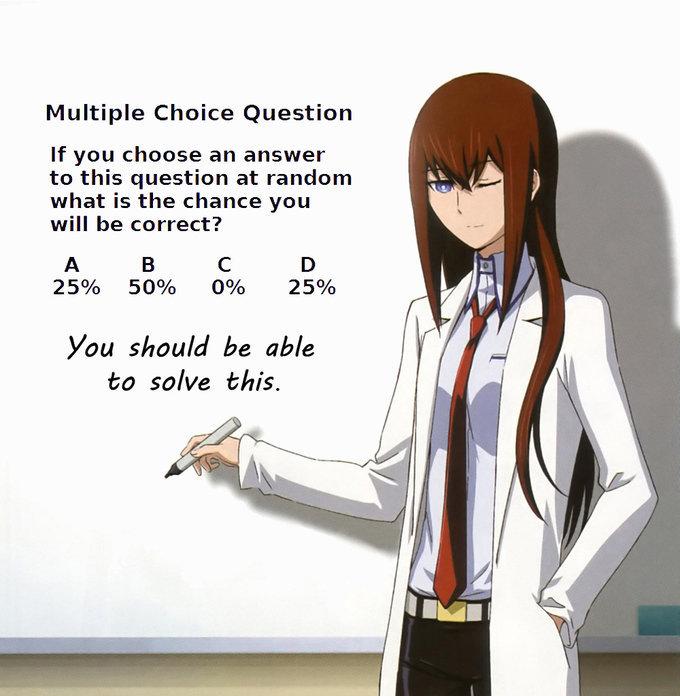 Multiple Choice Time